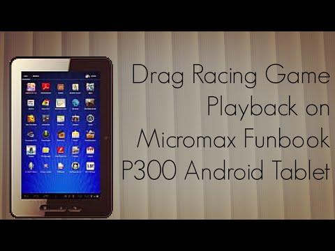 Drag Racing Game Playback Demo on Micromax Funbook P300 Android Tablet - PhoneRadar