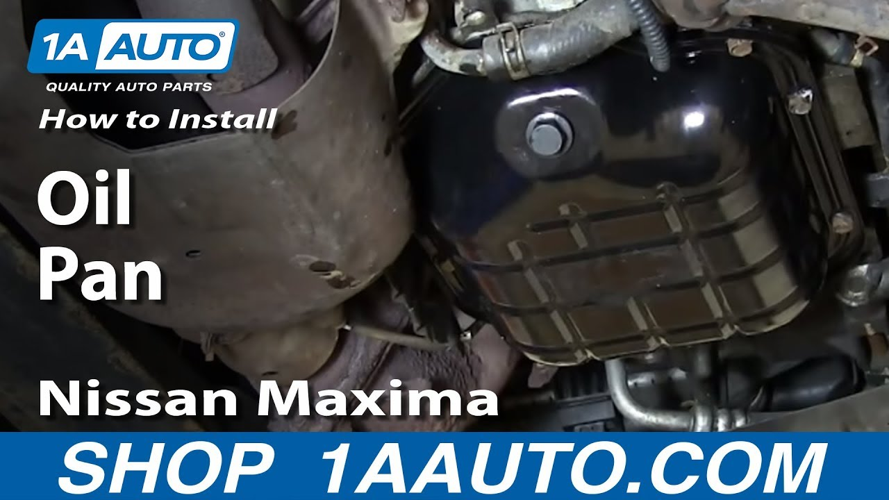 how to install replace oil pan nissan maxima altima 3 5l