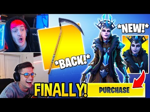 """Streamers *SHOCKED* by NEW """"ICE QUEEN"""" Skin and Reaper (SCYTHE) in Shop! Fortnite Funny Moments"""