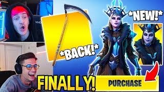 "Streamers *SHOCKED* by NEW ""ICE QUEEN"" Skin and Reaper (SCYTHE) in Shop! Fortnite Funny Moments"