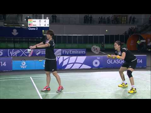 WD Gold - IND vs MAS - 2014 Commonwealth Games badminton