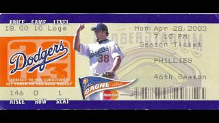 Los Angeles Dodgers Ticket Stubs Slideshow