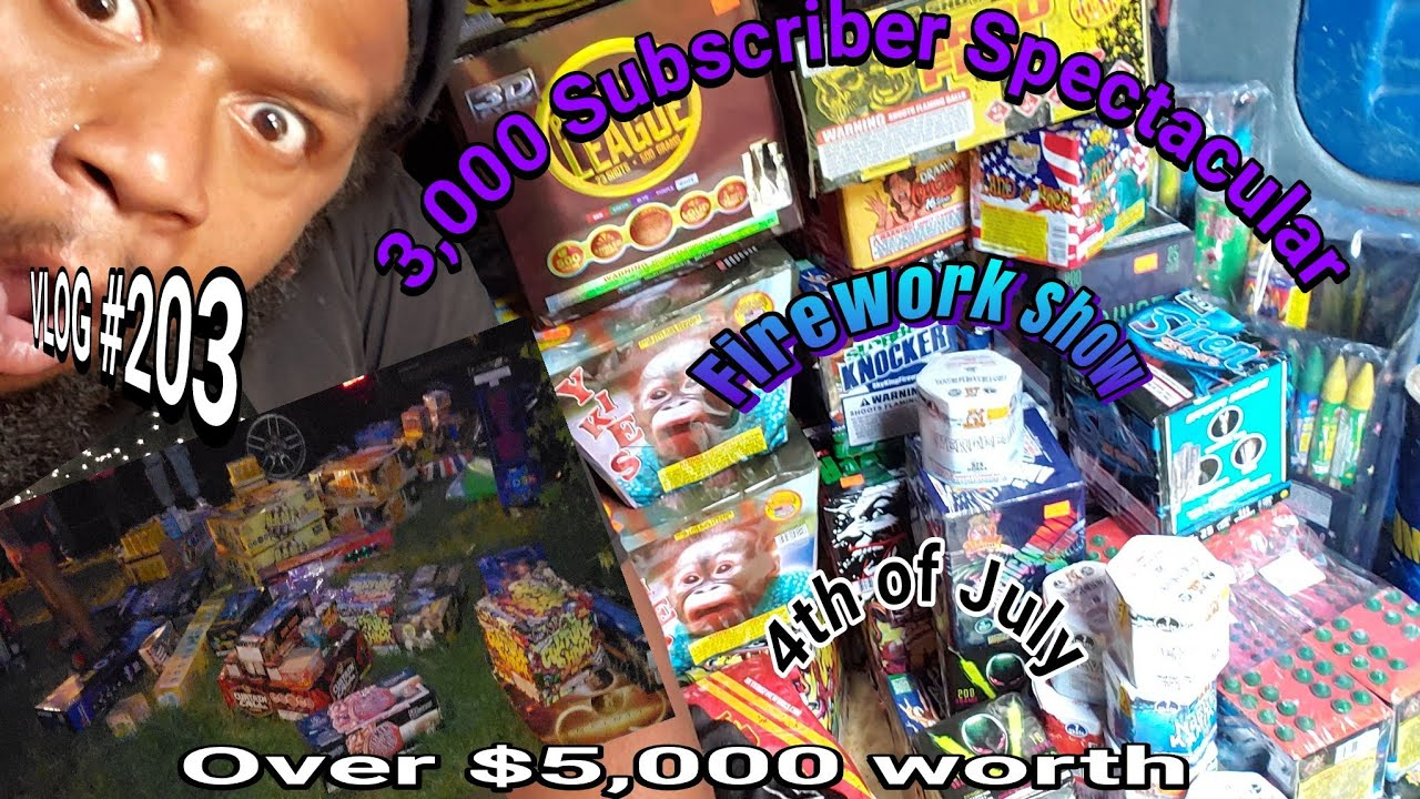 2020 July 4th Amazing Firework Spectacular | 3k Subscriber Special|Carpet cleaning vlog Episode 203
