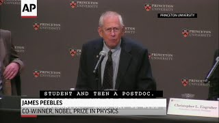 James Peebles shares Nobel in physics