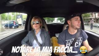 reaction mom in my 500 abarth 225hp and launch control