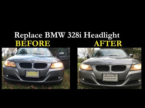 How To Replace Change Low Beam Headlight On 2011 Bmw 328i