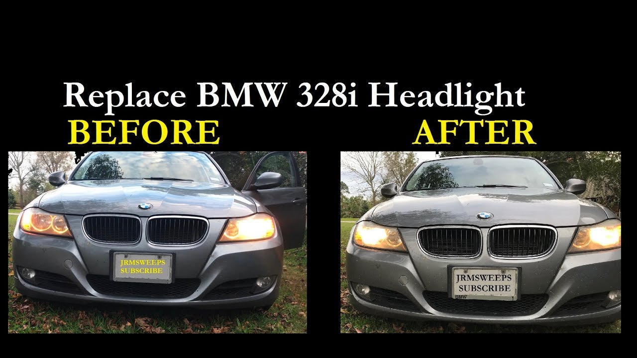 fast replace bmw 328i headlight bulb without removing tires [ 1280 x 720 Pixel ]