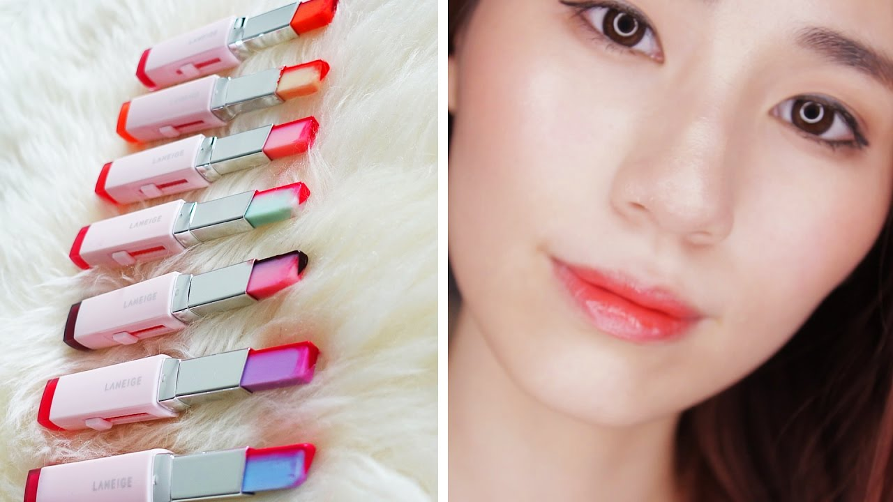 Laneige Two Tone Tint Lip Bars - 7 Shades | Lip Swatches ...