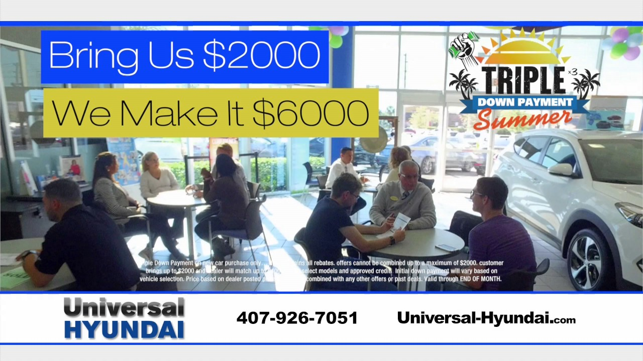 Universal Hyundai   Bring Us $2000, We Make It $6000!!