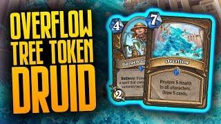 Overflow Tree Token Druid UNDERRATED?!   Saviors of Uldum   Hearthstone