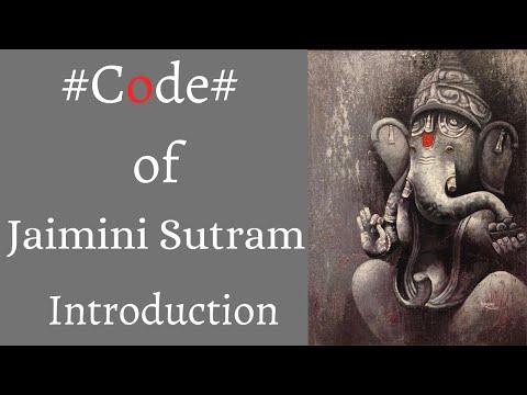 Jaimini Sutram- Code