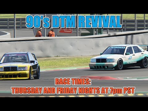 90's DTM Revival Series - Barcelona GP/Catalunya - Sim Racing System - LIVE Week 5/Race 2