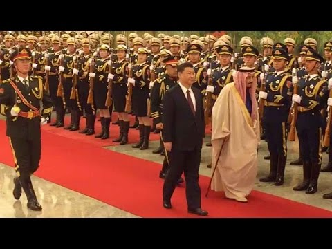 President Xi welcomes visiting Saudi King Salman in Beijing