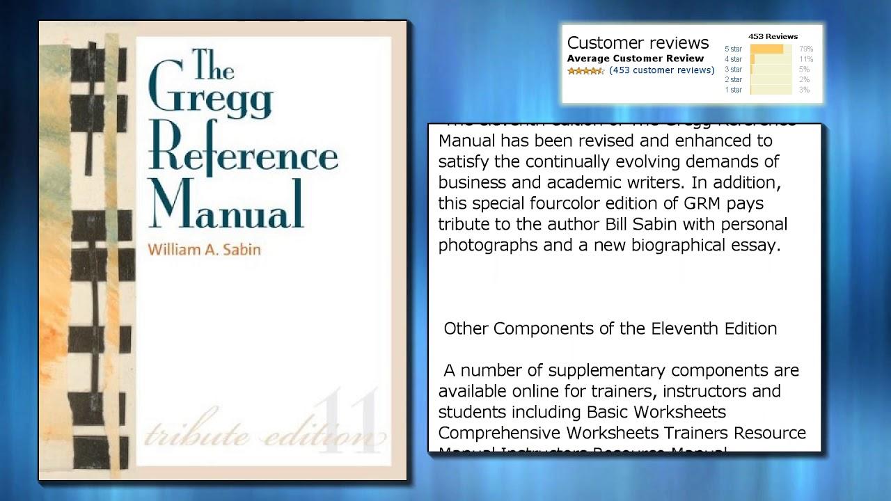 Gregg Reference Manual Pdf