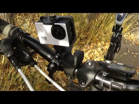 камера SJ4000 на велосипеде