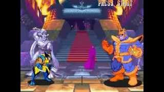Marvel Super Heroes (Arcade) Wolverine Run