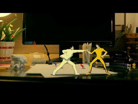 Bruce Lee vs  Jackie Chan - Stop Motion Animation