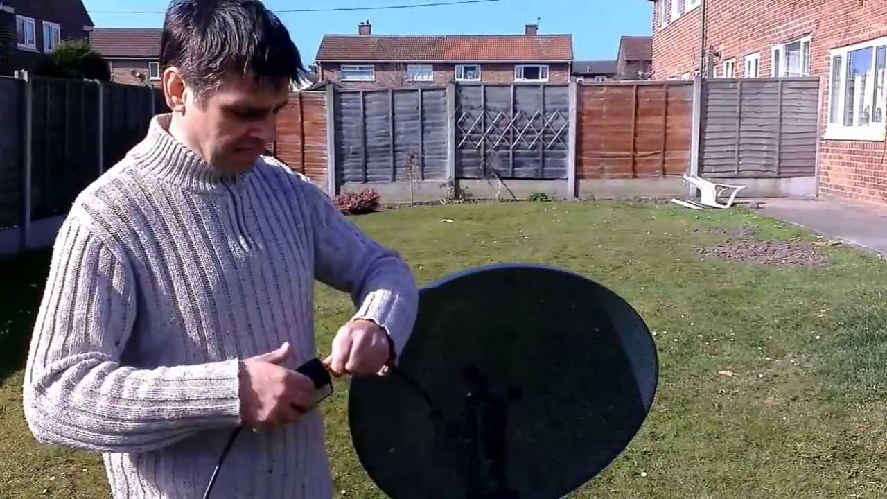 How to Align a Sky Dish / Aligning Satellite Dish Setup for Caravans using  satfinder meter