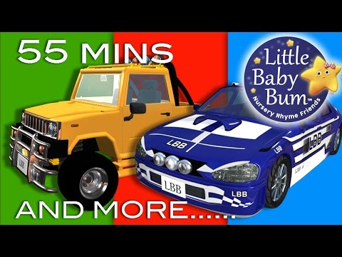 Thumbnail: Driving In My Car | Plus Lots More Nursery Rhymes | 55 Minutes Compilation from LittleBabyBum!