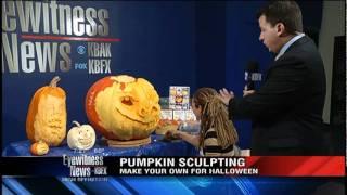 Pumpkin Sculpter Terri Hardin teaches us how to sculpt a pumpkin!