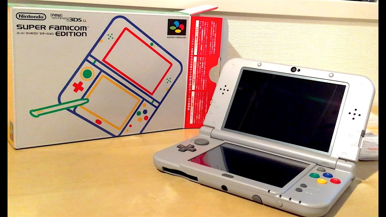 New Nintendo 3DS LL SUPER FAMICOM EDITION unboxing - YouTube
