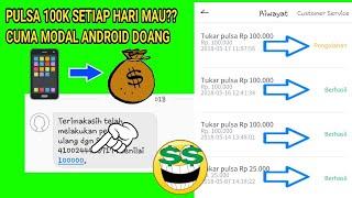 CARA DAPAT PULSA 100RB SETIAP HARI!!? TONTON VIDEO INI
