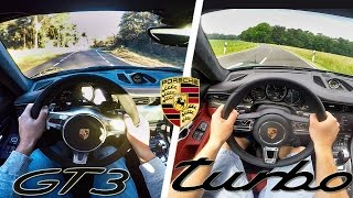 Porsche 911 991 GT3 vs Turbo S POV Test Drive & Sound by AutoTopNL
