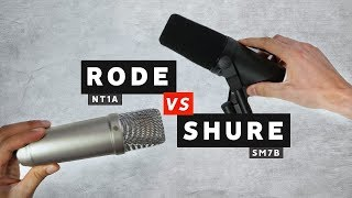 Mic Comparison: Shure SM7B vs Rode NT1A