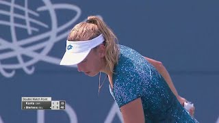 Elise Mertens Defeats Johanna Konta QF 2018 US Open Series Mubadala Silicon Valley Classic