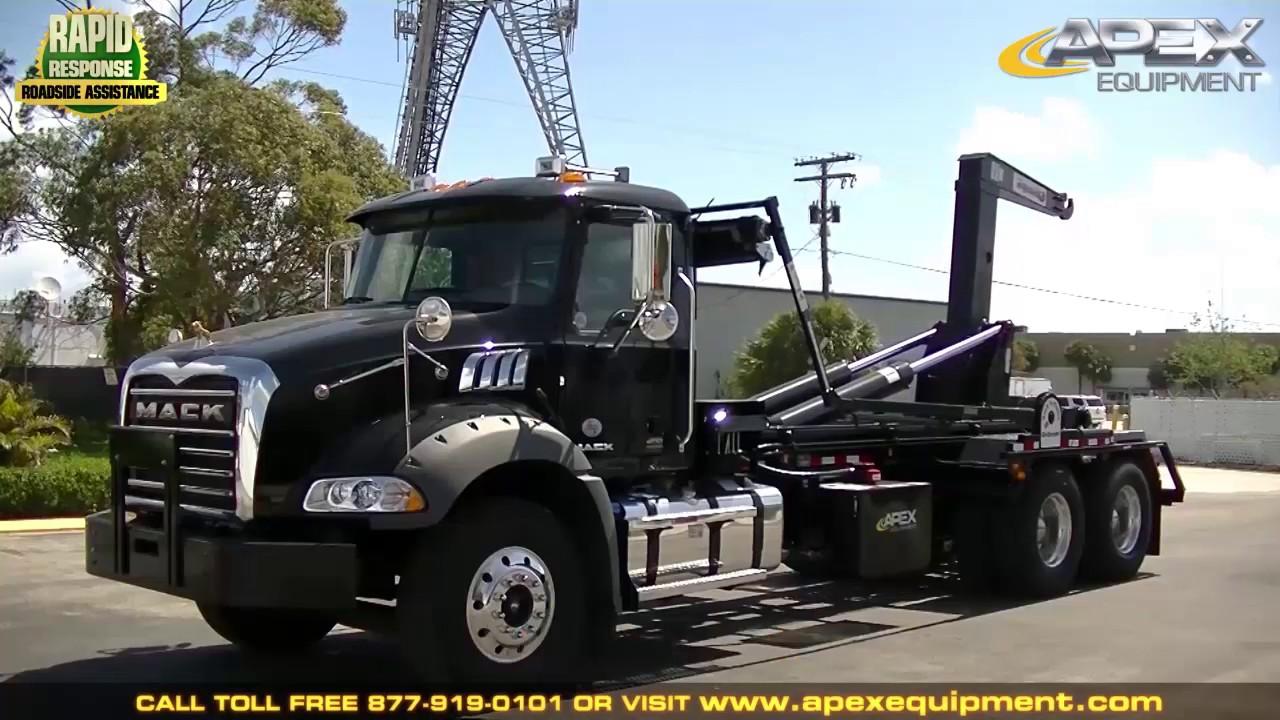 2017 mack gu813 hooklift truck youtube - Mack truck pictures ...