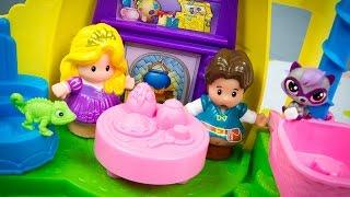 Fisher-Price Little People Disney Princess Rapunzel's Tower Tangled Toys Rapunzel Flynn Rider