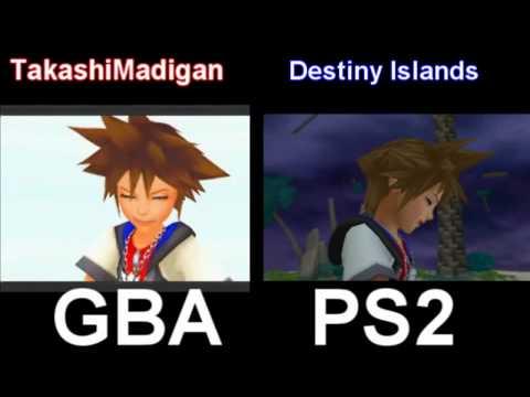 Kingdom Hearts Chain of Memories Cutscene Comparison