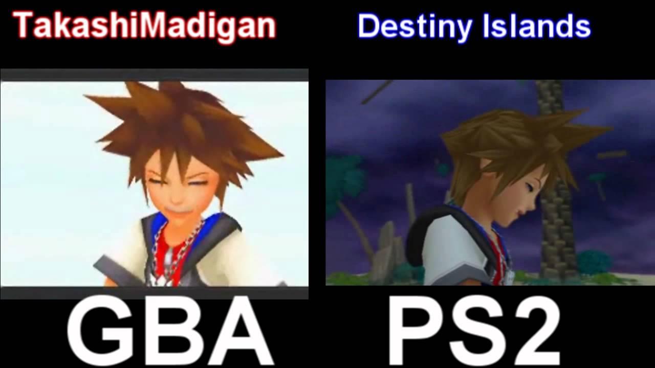 Kingdom Hearts - Chain Of Memories Cutscene Comparison