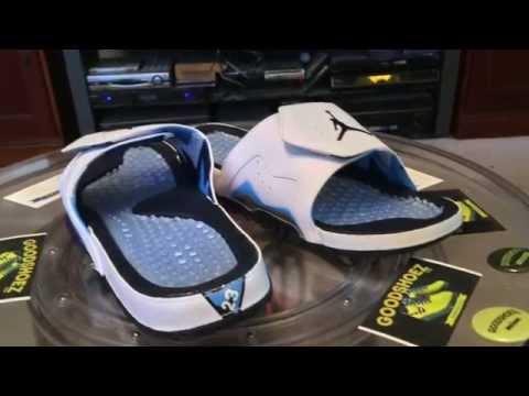416d13a8ab5968 Nike Air Jordan Hydro VII (7) Retro Slides -  SneakerTube.TV - 1.10.2015 -  YouTube