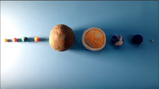 Fun science activity: How to make a play dough solar system