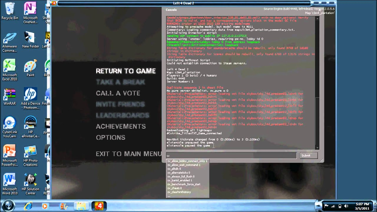How to use cheats for left 4 dead 2 (no download)