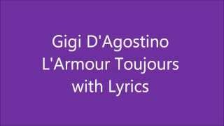 Gigi D'Agostino - L'Armour Toujours (album version) Lyrics video