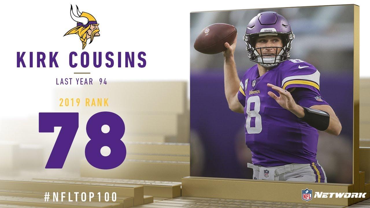 d74c49f6 #78: Kirk Cousins (QB, Vikings) | Top 100 Players of 2019 | NFL