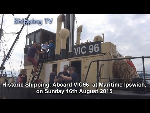 Aboard VIC96 at Maritime Ipswich, 16 August, 2015