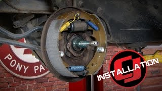 Mustang Drum Brake Rebuild Kit V8 1964-1966 Installation