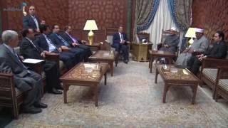 """بالصور.. """"الطيب"""" يُجدد تأييد الأزهر للموقف العربي المساند لحكومة اليمن الشرعية"""