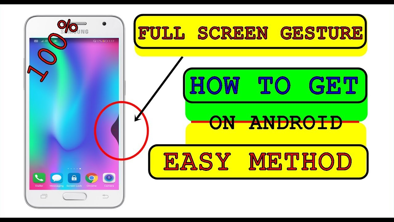 How to install Full screen Gesture in any ANDROID || without ROOT