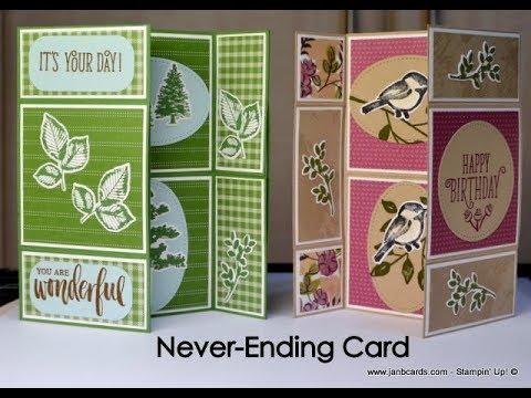 No.388 - Never-Ending Card - UK Stampin' Up! Independent Demonstrator