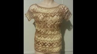 HOW TO CROCHET A SUMMER TOP | POSIE STITCH CROCHET SHIRT | BAG O DAY CROCHET TUTORIAL #253