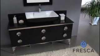 Single Bathroom Vanity - Modern Black Fvn7716bl Bath Cabinet