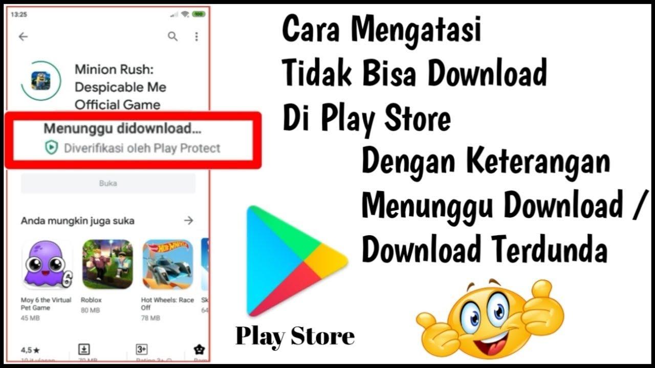 Cara Mengatasi Tidak Bisa Download Di Play Store Atau Download Di Play Store Tidak Berjalan Youtube