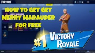 How To Get Merry Marauder & Ginger Gunner For FREE In Fortnite!!