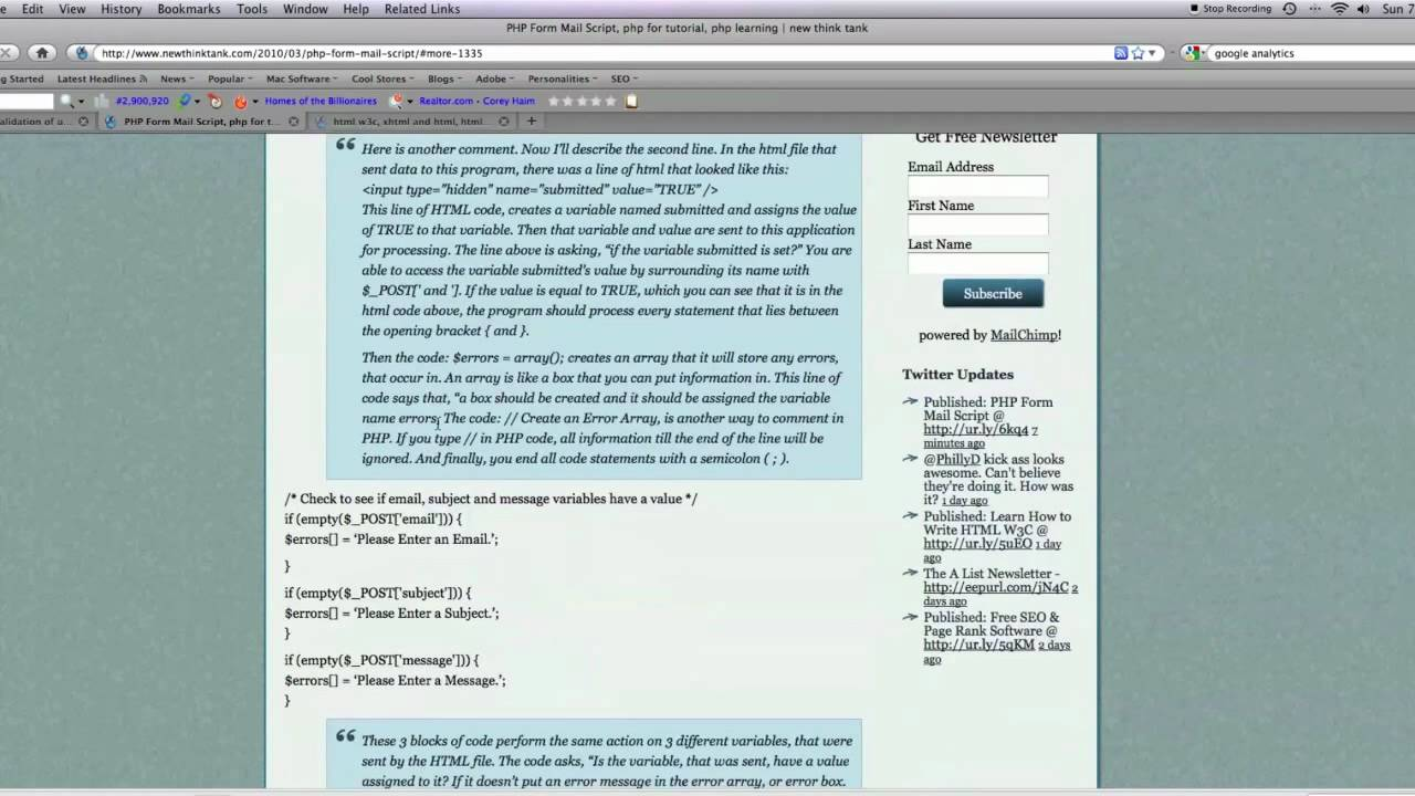 PHP Form Processing and Mail Script - YouTube