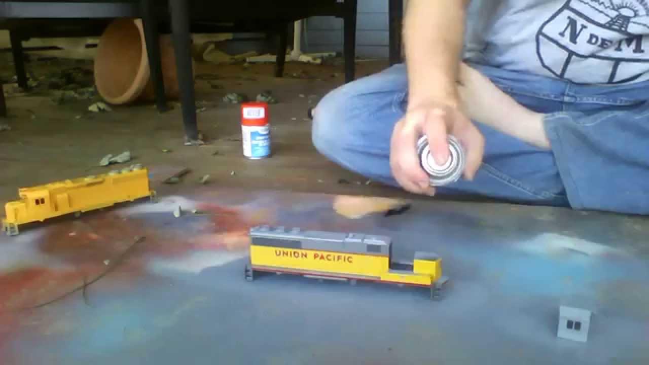 Model train paint strip