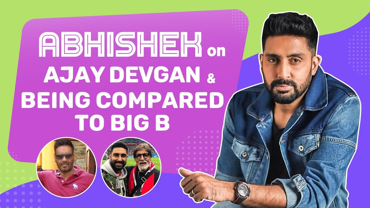Abhishek Bachchan on Ajay Devgn, being compared to Big B & why Aishwarya hasn't watched Big Bull yet